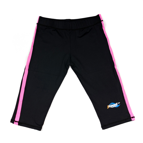 ALB Aldult long shorts in black with pink sides