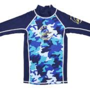 BCT 3qtr sleeve top blue Camou