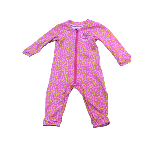 BR baby romper beach pink