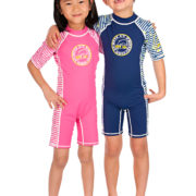 DS Dolphin pink and blue sunsuits