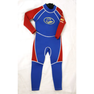 FWBR Wetsuit full length blue&red flat
