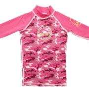 PCT 3qtr sleeve top pink camo