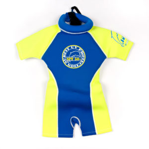 SFNB Swimsafe floatsuit neoprene royal and yellow
