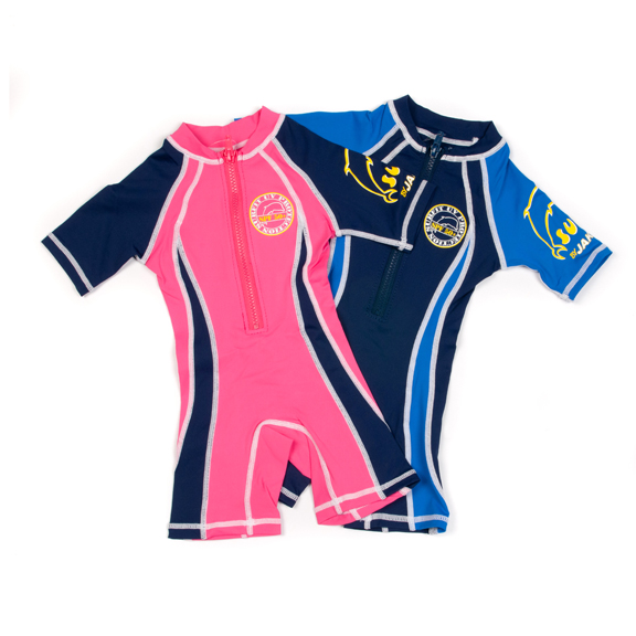 SSN Shorty sunsuits front facing