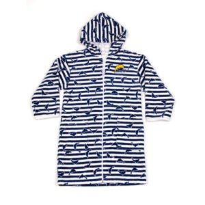TRDN Towelling robe navy