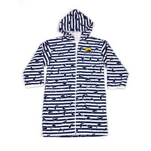 TRDN Towelling robe navy